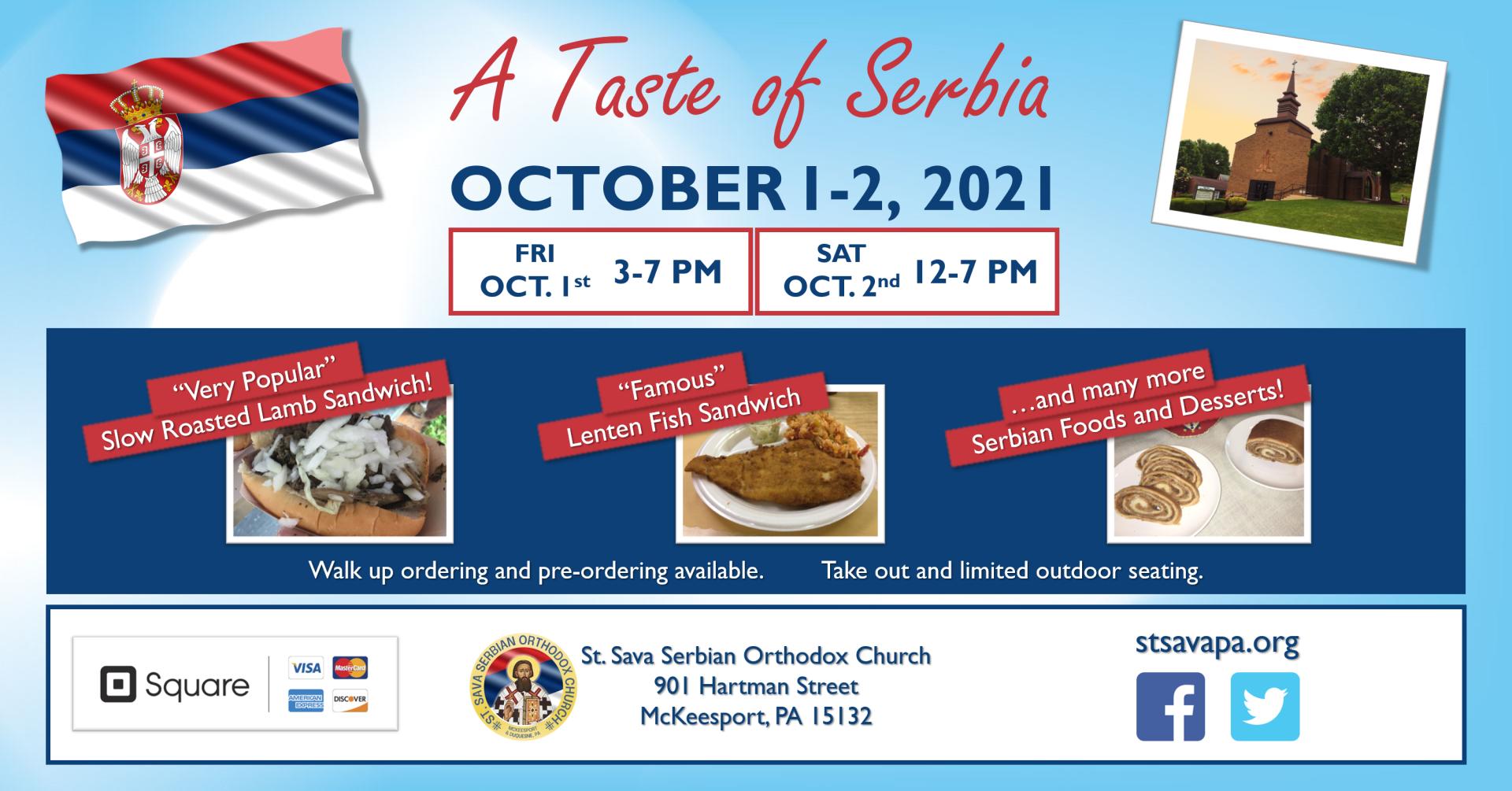 A Taste of Serbia - St. Sava Serbian Orthodox Church - Food Festival
