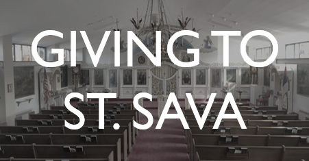 Giving to St. Sava Serbian Orthodox Church