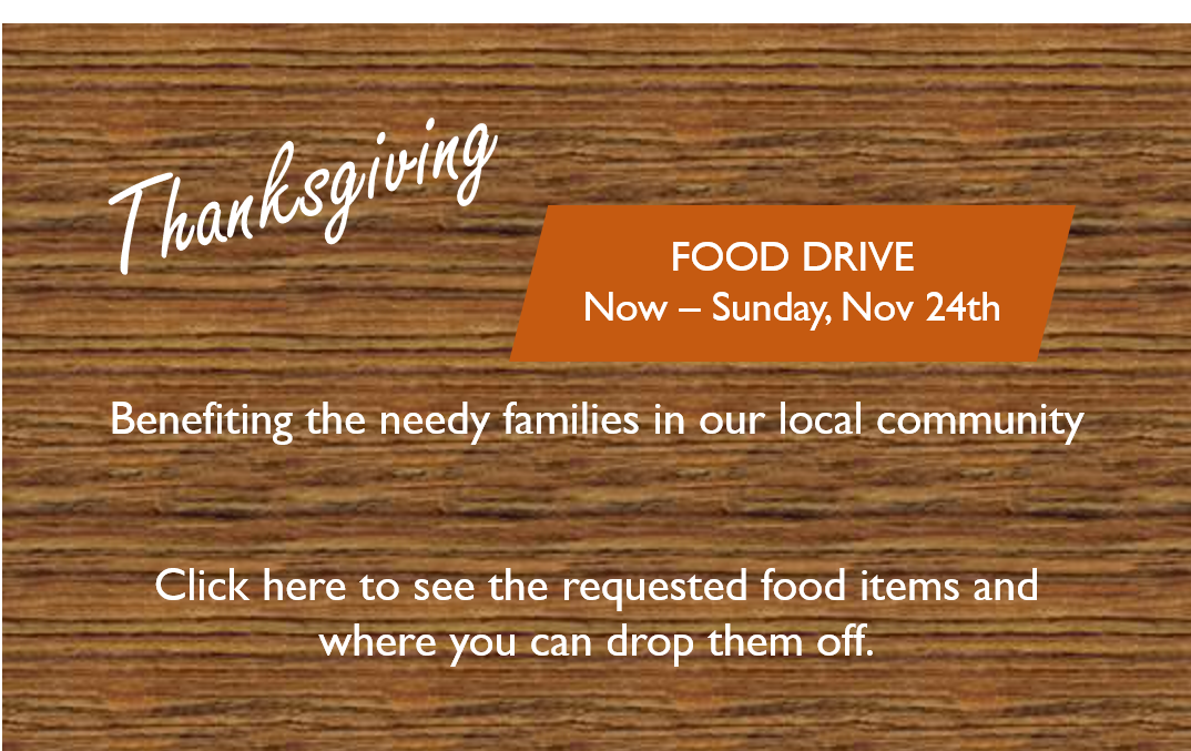 Thanksgiving Food Drive Announcement